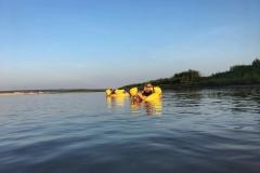 Enjoying floating down the McKenzie river